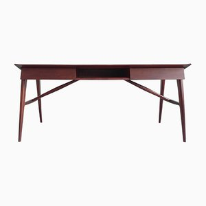 Italian Writing Desk in Mahogany by Silvio Cavatorte, 1950s