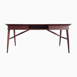 Italienischer Schreibtisch aus Mahagoni von Silvio Cavatorte, 1950er