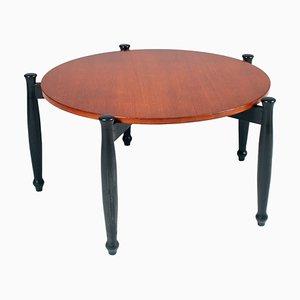 Tavolino da caffè in teak e noce di Ilmari Tapiovaara per La Permanente Mobili Cantù, Italia, anni '50