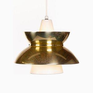 Lampada vintage in ottone di Jørn Utzon per Nordisk Solar, anni '60