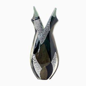Jarrón italiano de cristal de Murano, años 50