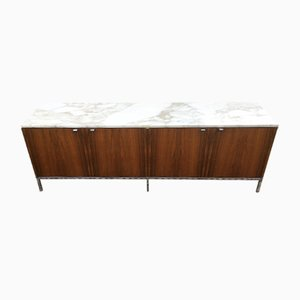 Rosewood and Marble Credenza by Florence Knoll for Knoll Inc., 1970s