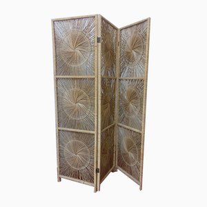 Vintage French Straw Room Divider, 1970s