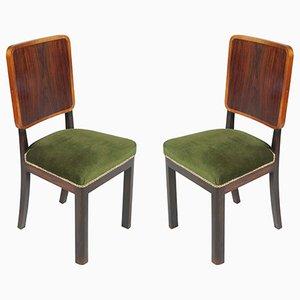 Art Deco Beistellstühle, 2er Set