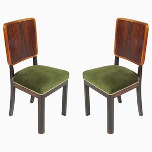 Art Deco Side Chairs, Set of 2