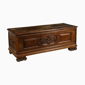18th Century Italian Walnut Storage Bench