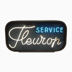 Insegna al neon Fleurop vintage