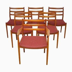 Sedie da pranzo di Arne Vodder per France & Søn, anni '60, set di 6