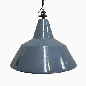 Vintage Industrial Hanging Pendant with Enamelled Steel Shade