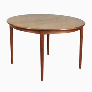 Mid-Century Swedish Extendable Round Dining Table, 1960s