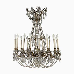 Antiker italienischer Kronleuchter aus Kristallglas