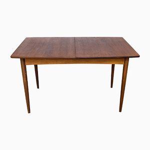 Table de Salle à Manger Vintage avec Rallonge en Teck, 1960s