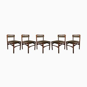 Vintage Rosewood Chairs 1960s, Set of 5