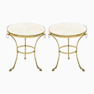 Tables d'Appoint Néoclassiques Vintage par Maison Charles, 1970s, Set de 2