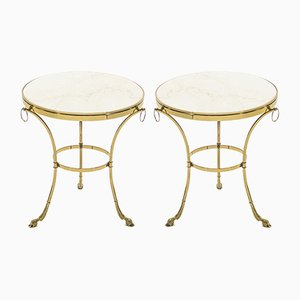 Vintage Neoclassical Side Tables by Maison Charles, 1970s, Set of 2