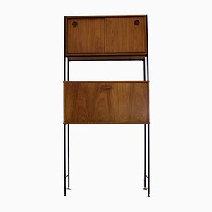 Mid-Century Teak Wall Unit with Desk or Drinks Cabinet from Avalon