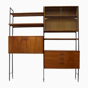 Mid-Century Teak Wall or Shelving Unit from Avalon
