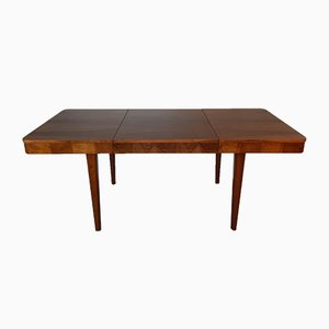 Vintage Walnut Extendable Table by Jindrich Halabala for UP Závody, 1950s