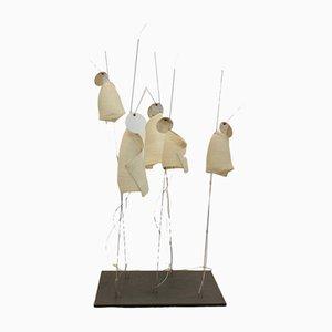 Lámpara de mesa modelo Mahbruky vintage con pantalla de papel de Ingo Maurer & Dagmar Mombach