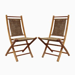 Vintage Bamboo Chairs, Set of 2
