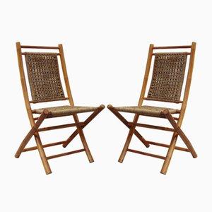 Vintage Stühle aus Bambus, 2er Set