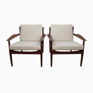 Vintage Armchairs by Arne Vodder for Glostrup, Set of 2