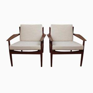 Vintage Sessel von Arne Vodder für Glostrup, 2er Set