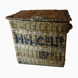 Antique Victorian Wicker Laundry Basket from HH Crl Ltd.
