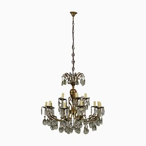 Antique Glass Pendant Chandelier