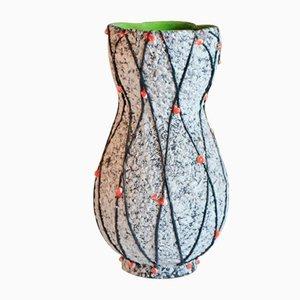 Vintage Sea Foam Vase, 1950er