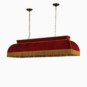 Lampada da soffitto antica in metallo e stoffa