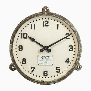 Vintage Cast Iron Factory Wall Clock from Gents of Leicester
