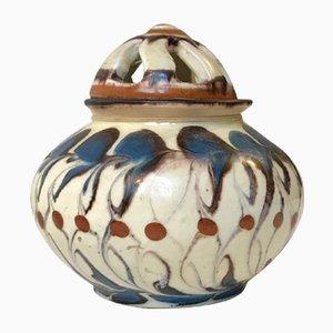 Recipiente para popurrí vintage de cerámica de Herman A. Kähler para Kähler, años 20