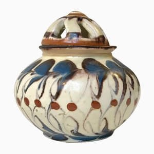 Vintage Potpourri Vase aus Keramik von Herman A. Kähler für Kähler, 1920er