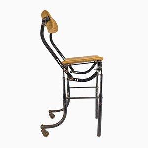 Silla de maquinista ajustable industrial vintage de Tansad