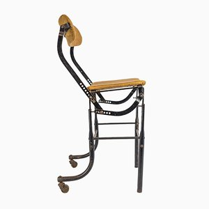 Vintage Adjustable Industrial Factory Machinists' Chair from Tansad