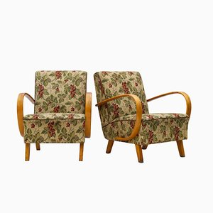 Vintage Lounge Chairs by Jindřich Halabala for UP Závody, 1930s, Set of 2