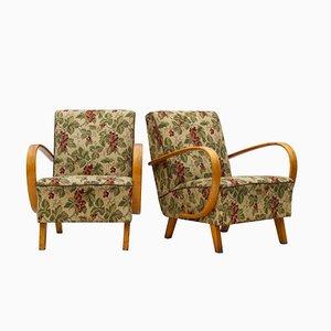 Vintage Sessel von Jindrich Halabala für UP Zavody, 1930er, 2er Set