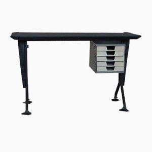 Vintage Schreibtisch aus Metall von Olivetti Synthesis, 1960er