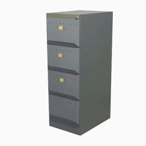 Vintage Iron Filing Cabinet from Olivetti Synthesis