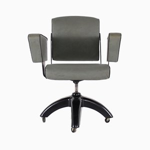 Model V.26 De Luxe Swivel Office Chair with Casters from Tan-Sad, 1950s