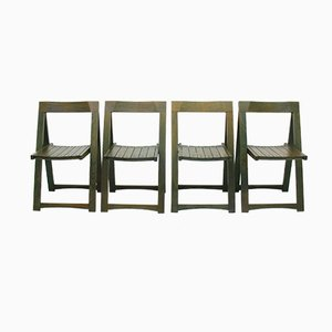 Folding Chairs, 1980s, Set of 4