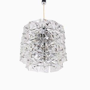 Lámpara de araña brutalista grande de cristal de Kinkeldey, años 70