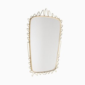 Specchio in ottone, anni '60