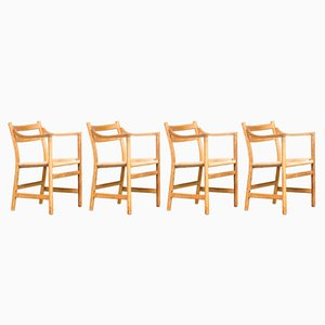 CH46 Chair by Hans J. Wegner for Carl Hansen & Son, 1960s, Set of 4
