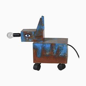 Artisan Lampe in Hunde-Optik, 1980er