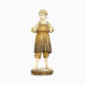 Sculpture Polter Antique en Terracotta par Friedrich Goldscheider