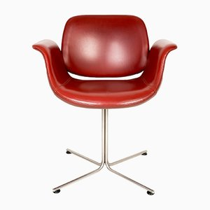 Danish Red Leather Flamingo Chair by Erik Jørgensen, 2003