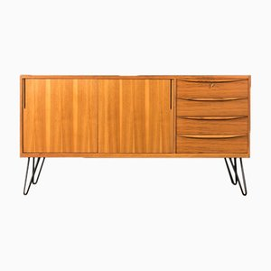 German Steel & Walnut Veneer Sideboard, 1950s