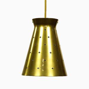 Mid-Century Brass Diabolo Pendant Lamp